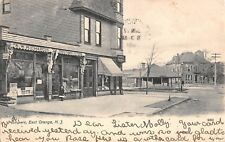 1908 Stores RR Depot Ampere NJ post card East Orange