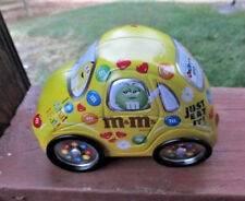 "M&M'S Candy Volkswagen Car Medal Tin 6""x4""Size.Opens in the Middle"
