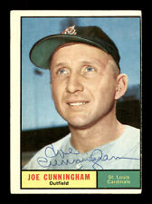 Joe Cunningham Autographed Signed Auto 1961 Topps Card #520 Cardinals 169865