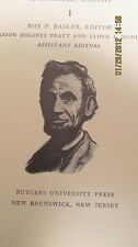 Collected Works Abraham Lincoln 8 Volumes & Index 1953 Speeches, Papers Writings