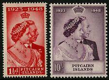 Pitcairn Islands   1948   Scott # 11-12    Mint Lightly Hinged Set