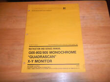 ELECTROHOME  go5-802 / 805 monochrome quadrascan x-y monitor video game  manual