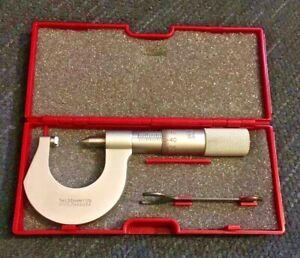 STARRETT 575MBP Metric Screw Thread Micrometer 2-2.5mm EDP56322 Machinist Tool