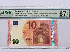 EU / France, 2014 10 Euro P21e PMG 67 EPQ