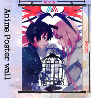 DARLING in the FRANXX ZERO TWO Scroll Wall Decor Unisex Home Poster 60*90cm #A10