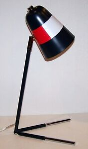 """FABULOUS TOMMY HILFIGER SIGNATURE BLUE/RED/WHITE METAL 18"""" STUDENT/DESK LAMP"""