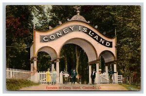 Vintage Postcard Ohio, Entrance To Coney Island, Cincinnati OH