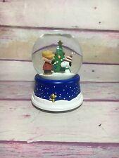 """Peanuts /""""Charlie Brown Pitching/"""" Mini Snow Globe Item #20751"""