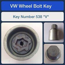 """Genuine VW Locking Wheel Bolt / Nut Key 538 """"V"""""""