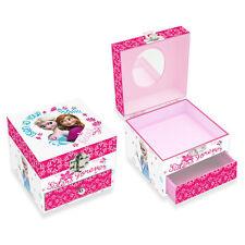 FROZEN scatolina quadrata con specchio in carta stampata con un cassetto 10x10cm
