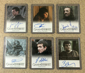 Rittenhouse Game of Thrones Auto Autograph 6x Card Lot Portman Magee Hawkey Etc