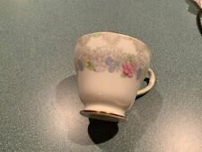"Vintage Small Salisbury 2.25"" Tall Bone China Tea Cup - Flowers - England"