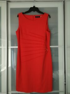Ivanka Trump dress red with gold accents UK size 20 US size 16
