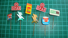 Spar supermarket supermarkt stick pin badge 60's lapel speldje Dutch 8pcs