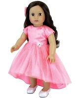 Coral Hi-Low Hem Butterfly Dress 18 in Doll Clothes Fits American Girl