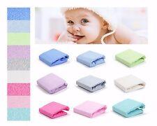 Baby Spannbettlaken Frottee für Kinderbett Babybett 70x140 Spannbetttuch