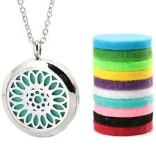 Sunflower Aromatherapy Essential Oil/Perfume Diffuser Locket Pendant Necklace