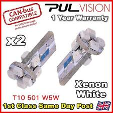 2 x 8 PURE White SMD LED 501 T10 W5W WEDGE CANBUS NO ERROR SIDE/INTERIOR LIGHTS