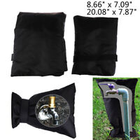 Winter Outdoor Faucet Cover Sock Bag Black for Cold Weather Freeze Protection