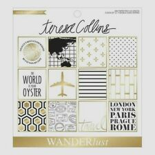 Wanderlust Travel World Sightseeing 6 x 6 Teresa Collins Gold Foil Paper Pad