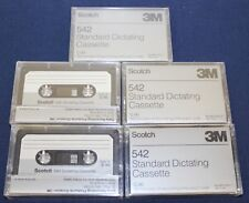 3M 542 C-90 Standard Dictating Cassette Tapes 90 Mins Lot of 5