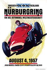 NÜRBURGRING 1957 GRAND PRIX ADVERTISING POSTER