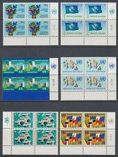 UNO Wien 1979 ** Mi.1/6 Freimarken Definitives Flaggen Flags [sr2015]