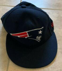New Era 59Fifty New England Patriots Blue & Red Hat Cap Mens 7 1/4