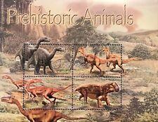 ANTIGUA PREHISTORIC ANIMALS STAMP SHEET 2005 MNH DINOSAUR LYSTROSAURUS WILDLIFE
