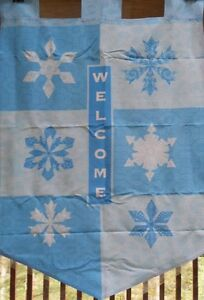 Winter Snowflakes Welcome Large House Flag by NCE #91772