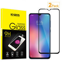 2X Khaos For Xiaomi Mi 9 SE Full Cover Tempered Glass Screen Protector -Black