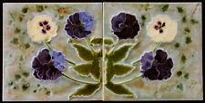 2 Art Nouveau tiles C1900, MInton china Works