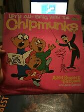 Let's all sing with the chipmunks vinyl lp