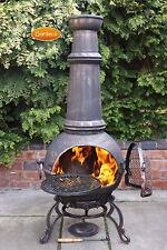 Toledo Jumbo chimenea 143cm high garden patio heater fire woodburner cast iron