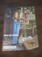 1979 VINTAGE PRINT AD FOR CAMEL CIGARETTES ONE OF A KIND WOMAN SHORTS SUSPENDERS