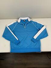 Men's Footjoy 1/4 Zip Pullover Sweatshirt Size L Blue Nylon Blend