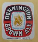 VINTAGE BRITISH BEER LABEL - DONNINGTON BROWN ALE 9 2/3 FL OZ #2