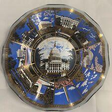 Washington DC Wavy Glass Souvenir Dish Bicentennial Collector Display Plate