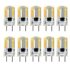 10pcs G8 Bi-Pin T5 64 3014 SMD LED Light Bulb Dimmable Silicone Lamp 110V/2700K