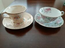 2 Lot Of Teacups And Saucer. Diamond And HK Tunstall