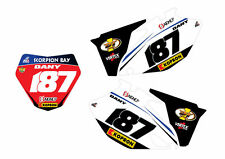 YAMAHA STICKERS GRAFICHE TABELLE SCORPION  YZ YZF  WR WRF PERSONALIZZABILI