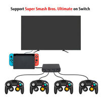 4Port USB Gamecube Controller Adapter Converter For Switch Wii U PC 3-In-1
