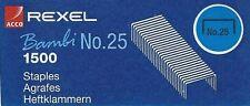Rexel Bambi No: 25 staples