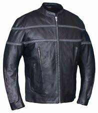 6049.18 Men's Leather Jacket Zip Out Liner - Vented