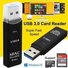 USB 3.0 High Speed 2 in 1 Memory Card Reader Flash Adapter Micro SD SDXC TF UK