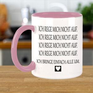 FUNNYWORDS® ich rege mich nicht auf Spruch - Fun - Tasse - Kaffeebecher