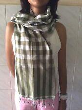 Krama Traditional Scarf 100% Cotton Khmer Green Cambodia Woven Hand I15