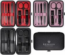 7pcs Manicure Set Nail Care Clippers Scissors Mini Travel Grooming Kits Case