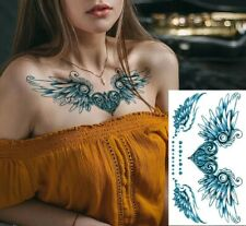 Temporary Tattoos Body Arm Chest Leg Tattoo #172 Wings Heart Sticker Waterproof