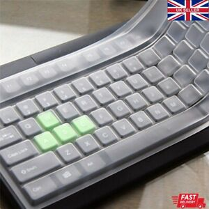 Universal Desktop Keyboard Protective Silicone Cover Protector Skin Clear Film